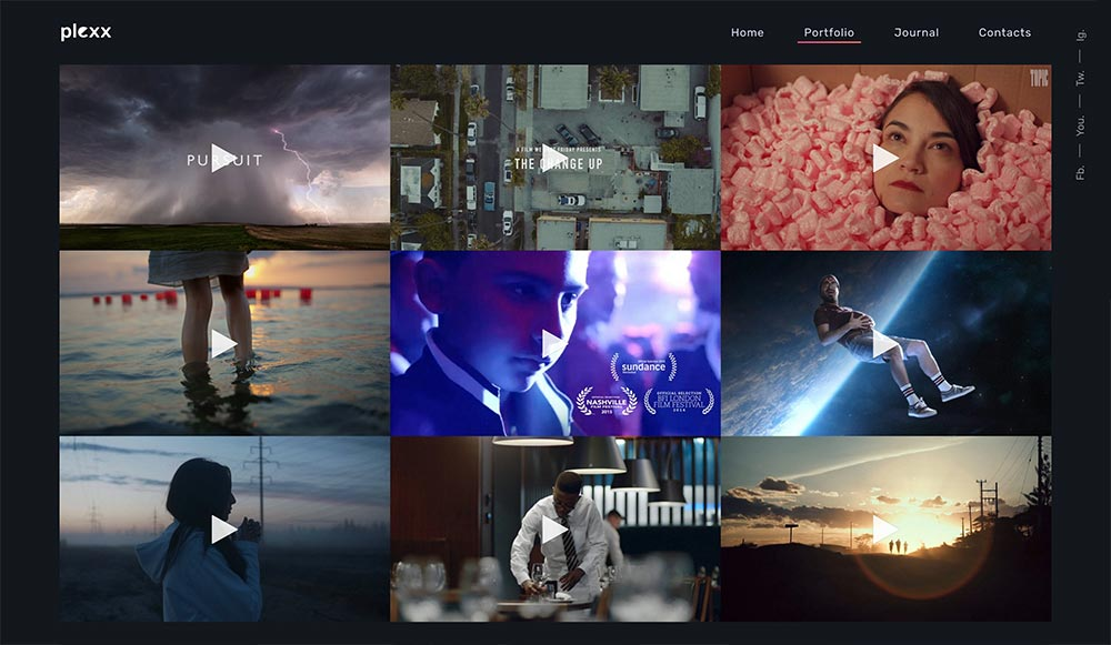 Plexx - Portfolio and Video Gallery for Agency and Studio - 1